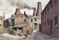 The old Pottery Works - Longton - an iconic picture of the potteries
