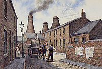 Short Street Longton - a typical  picture of the Potteries
