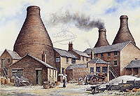 Teapot Factory - Longport - a nostalgic  picture of the Potteries