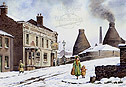 Longport in the snow a seasonal picture of the Potteries - click for details
