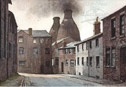an image of ever popular bottle ovens from our pictures of the potteries