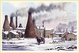 Glastone Pottery Longton - a seasonal Picture of the Potteries - click for details